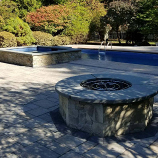 Bluestone Pool & Firepit