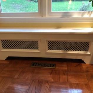 Mystery White Marble Radiator Top