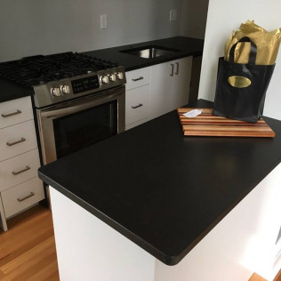 Absolute Black Granite Kitchen Countertops - Honed