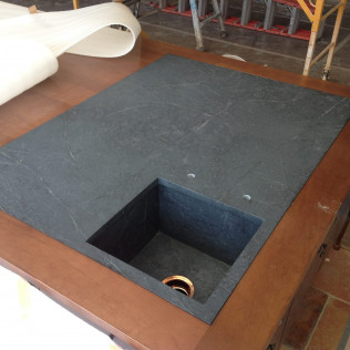 Custom Soapstone Sink