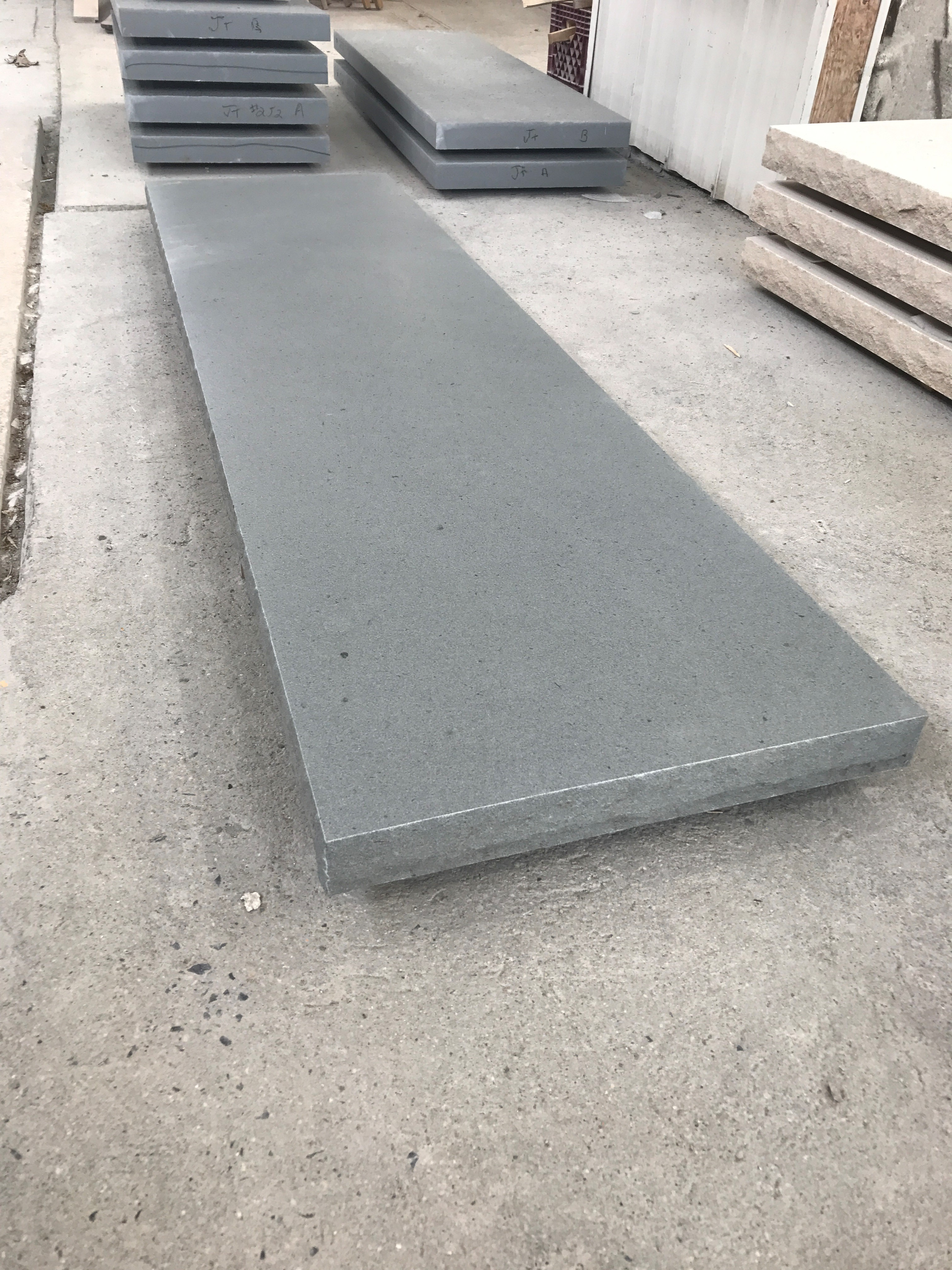 NYS Bluestone with Honed Top & Rocked Edges
