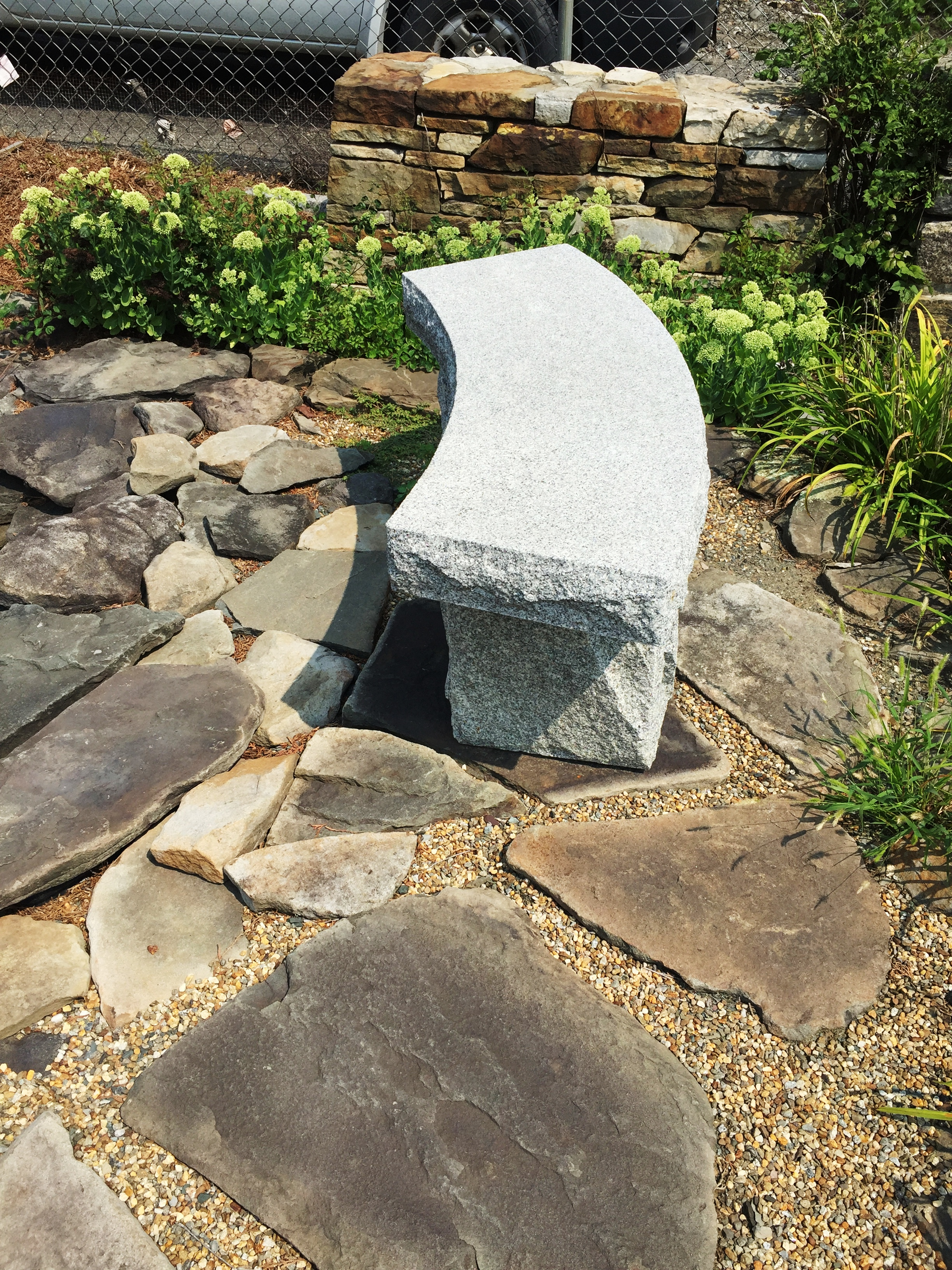 Woodbury Granite Bench