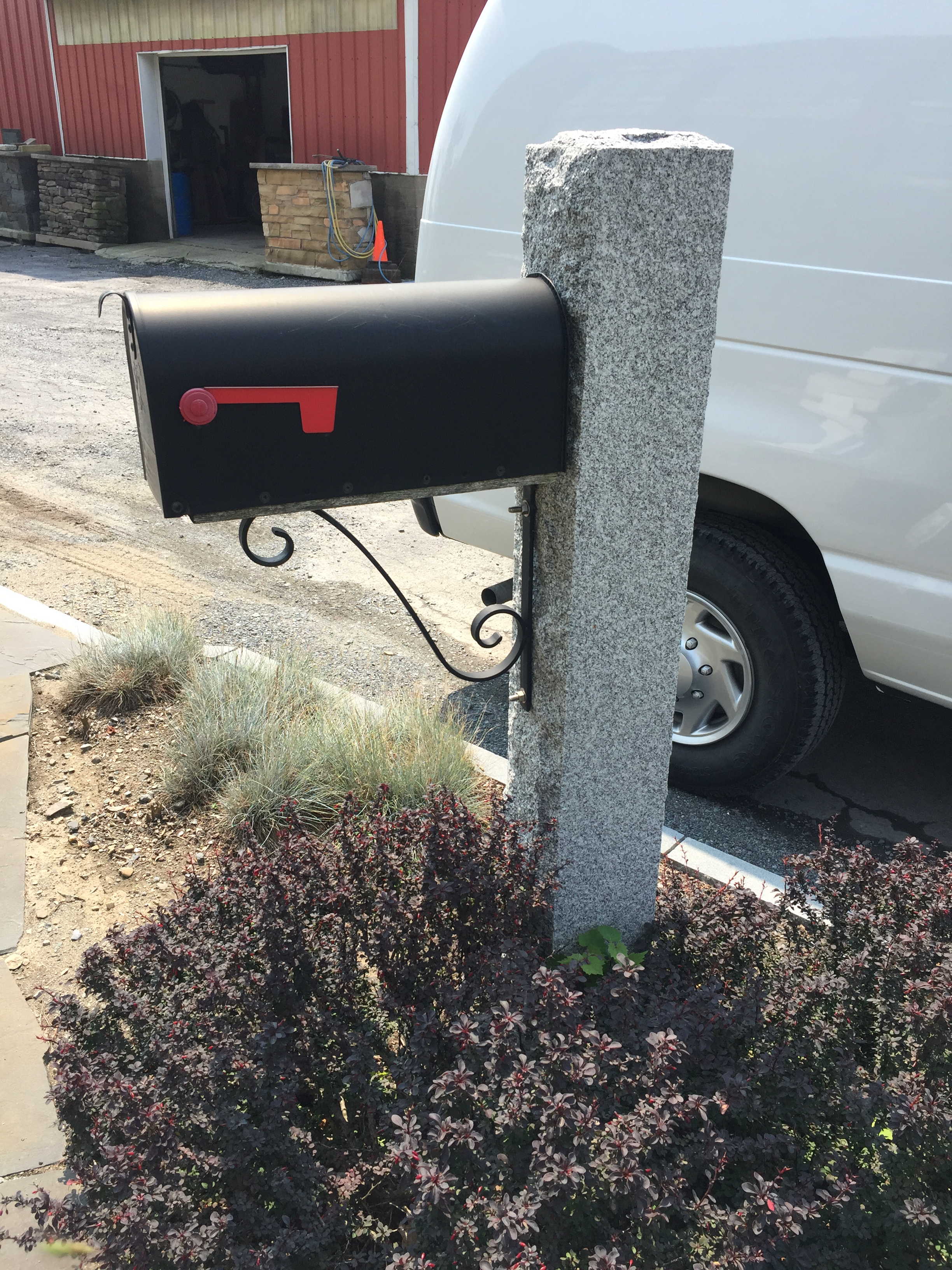 Woodbury Granite Mailbox Post