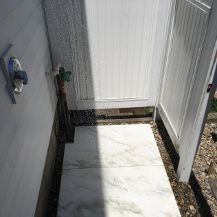 Imperial Danby Marble Outdoor Shower Floor