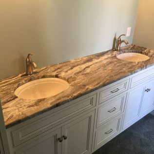 Fantasy Brown Quartzite Bathroom Vanity