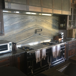 Mephisto Quartzite Full Height Backsplash