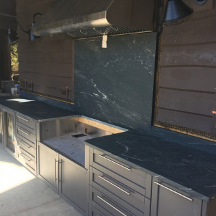 Marine Black Soapstone Outdoor