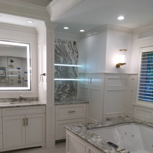 Avalanche Marble Master Bathroom