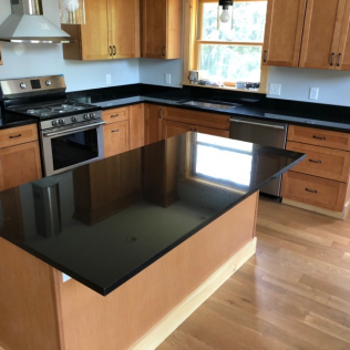 Absolute Black Granite Countertops - Polished