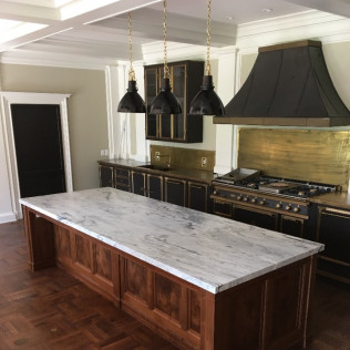 Georgia Marble Kitchen Island