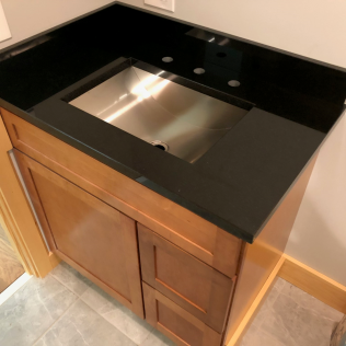 Absolute Black Granite Vanity - Polished