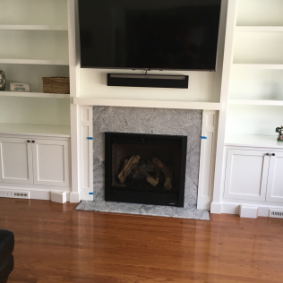 Silver Cloud Granite Fireplace Surround