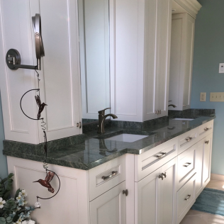Surf Green Granite Vanity